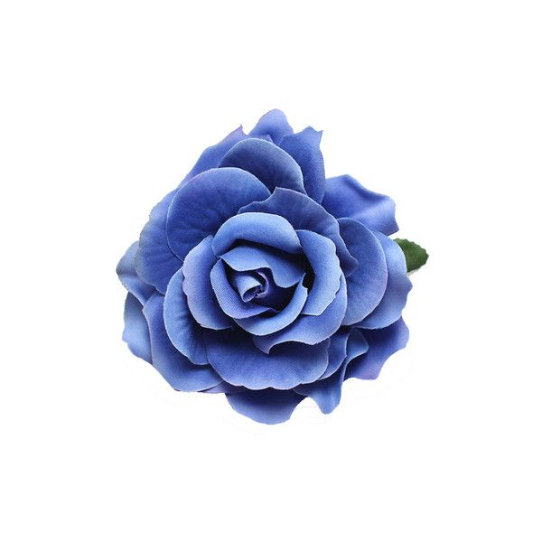 Trash Monkey Royal Blue Rose Flower Hair Clip 7 58 Liked On Polyvore Featuring Accessories Blue Rose Tattoos Blue Hair Accessories Flower Hair Accessories