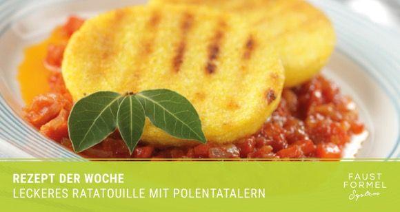 Rezept der Woche: Polentataler mit Ratatouille
