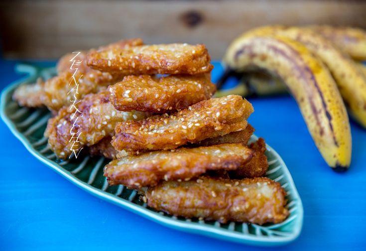 Kluay kaek- Thailändska friterade bananer