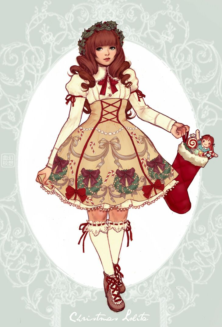 Christmas Lolita by yasahime on deviant