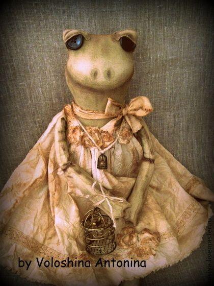 Frosch Odelia - лягушка,квака,квакушка,жаба,винтаж,винтажный стиль,игрушка