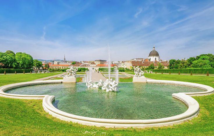 Jane Star Photograph - The Fountain In The Belvedere by Jane Star  #JaneStar #Belvedere #Fountain #Vienna #Austria #ArtForHome #InteriorDesign #HomeDecor