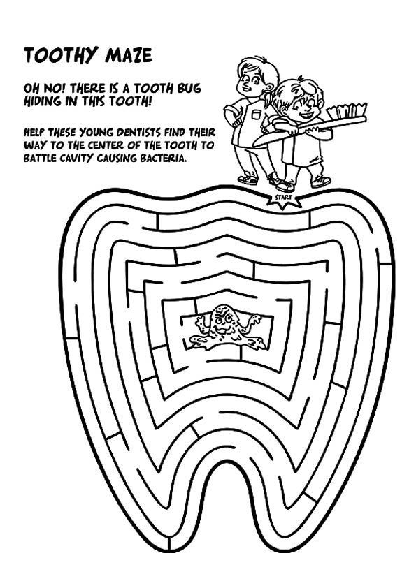 orthodontic coloring pages - photo#31
