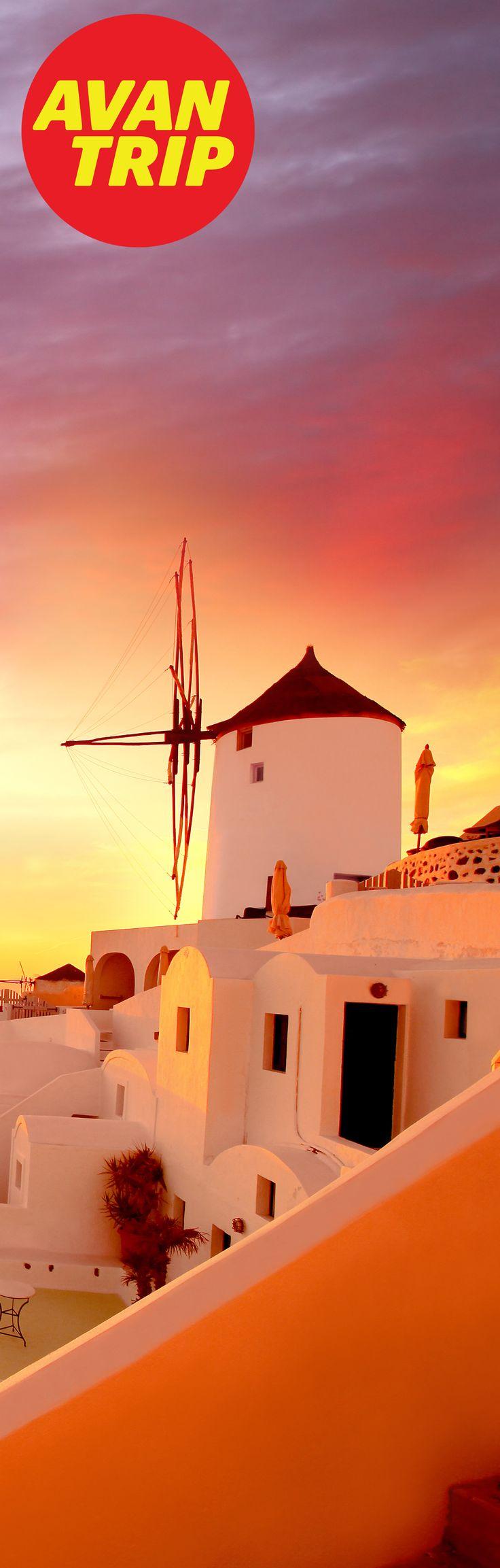 Adivinanza: Avantrip está visitando #Grecia, y se encontró con este maravilloso atardecer... ¿En qué isla griega está? - Contestá con #AvantripQuizViajero - Mucha Suerte! ---- www.avantrip.com --------------- Respuesta: #Santorini #Atardecer #Sunset #Grecia #greece #Molino #Viajar #Viaje