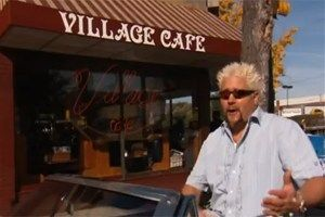 "Guy Fieri at The Village Cafe in Richmond. Love Diners, Drive-Ins & Dives on the Food Network? Learn more and see other ""As Seen on TV"" Virginia dining when you click the pic."