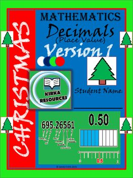 Christmas:+Christmas+Math:+Math+Worksheets:+Christmas+Decimals+Worksheets:+Decimals+Place+Value:+Decimals+Ordering.+Christmas+Decimals+Worksheets+-+Place+Value+(3-6)Christmas+style+math+sheets+-+Decimal+Place+Value+++-+1+Lesson++++-+Four+handout+sheets++++-+Cheap+lesson+option+around+'Christmas'+time+(with+answers)This+resource+is+for+year+level+2+-+6+learners+and+anyone+else+wishing+to+revise+or+learn+to+compare+and+order+decimals.