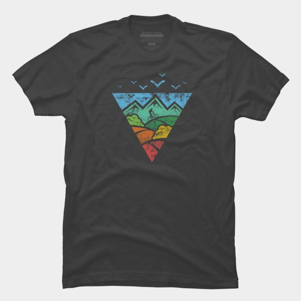 Mountain Bike T Shirt By Hkartist Design By Humans