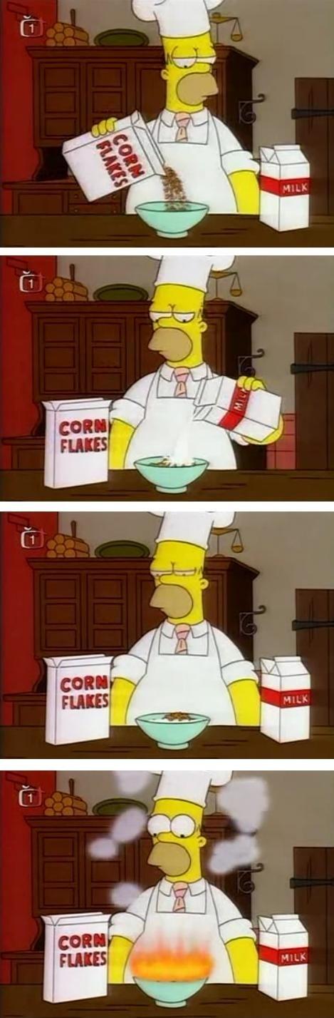 Cuando Homero cocina