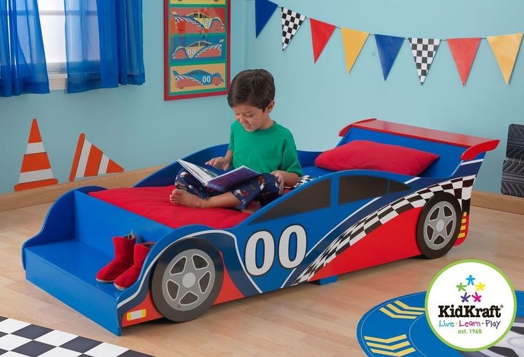 Kidkraft Racing Car Toddler Bed, Kids Wooden Toddler bed Cot bed sized