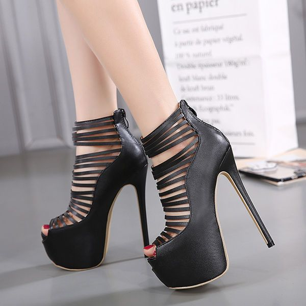 WOMENS SEXY CUT OUT HIDDEN PLATFORM 6 INCH HIGH HEEL PEEP TOE SHOES PARTY PUMPS | Clothing, Shoes & Accessories, Women's Shoes, Heels | eBay!