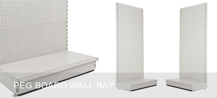 Peg Board Wall Shelving