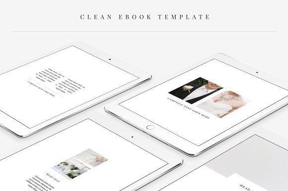 Сlean Ebook Template by Swiss_cube on @creativemarket