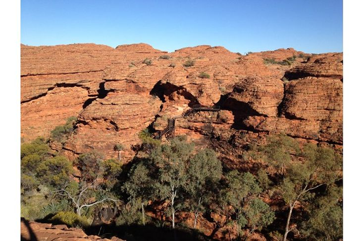 Overlooking the Garden of Eden, Kings Canyon-Watarrka