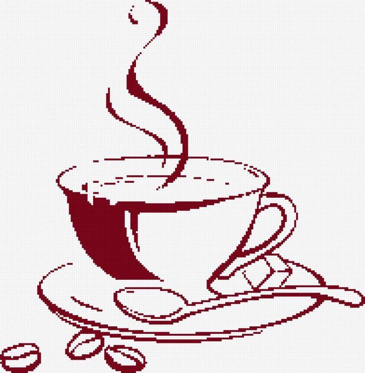 Схема вышивки «філіжанка кави» - Вышивка крестом