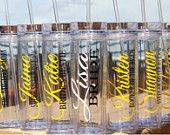 Modern Custom Personalized Acrylic Tumbler w/ Lid and Straw Bridal Party Gift Bridal Gift Maid of Honor Gift