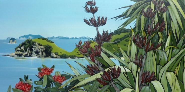Hahei by Kirsty Nixon, acrylic on canvas (2011)