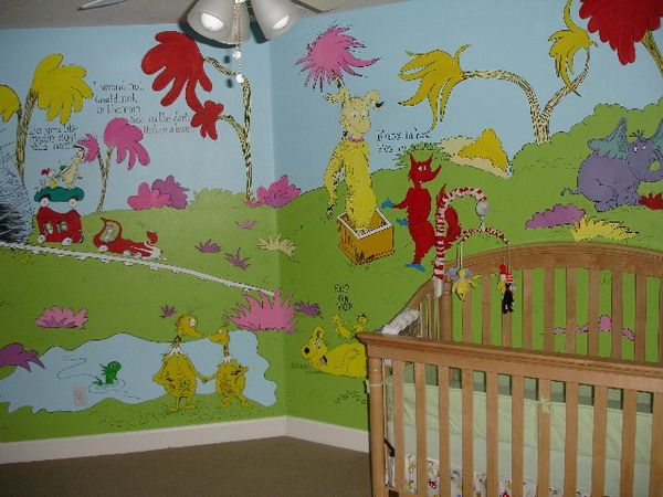 17 best images about dr seuss on pinterest nursery for Dr seuss nursery mural