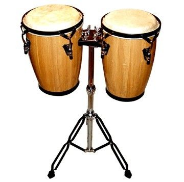 "9"" 10"" Congas Bongo Conga Drum Set w Stand de Rosa Percussion Drums 