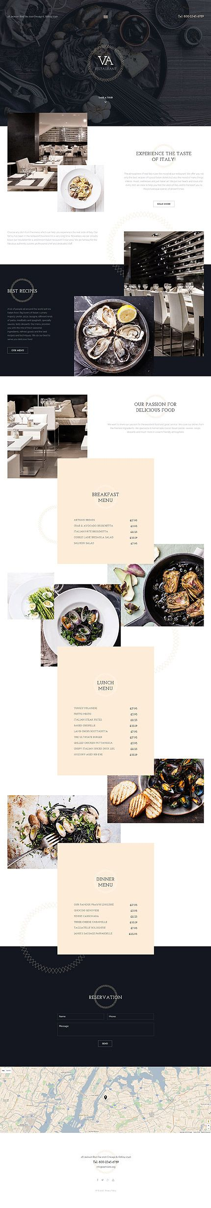 Elegant Restaurant Website #Joomla #template. #themes #business #responsive #Joomlathemes