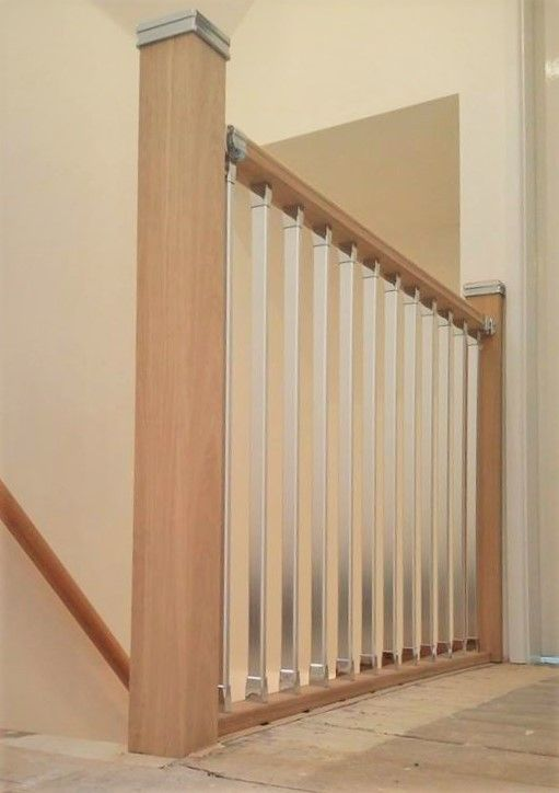 Here Is An Example Of Our Solution Oak And Chrome Landing Parts. Take A Look
