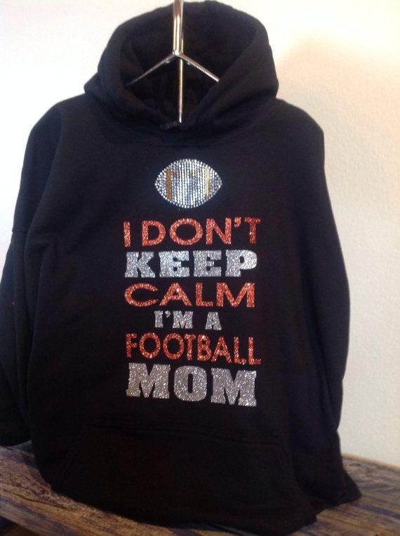 Keep calm football mom hooded sweatshirt