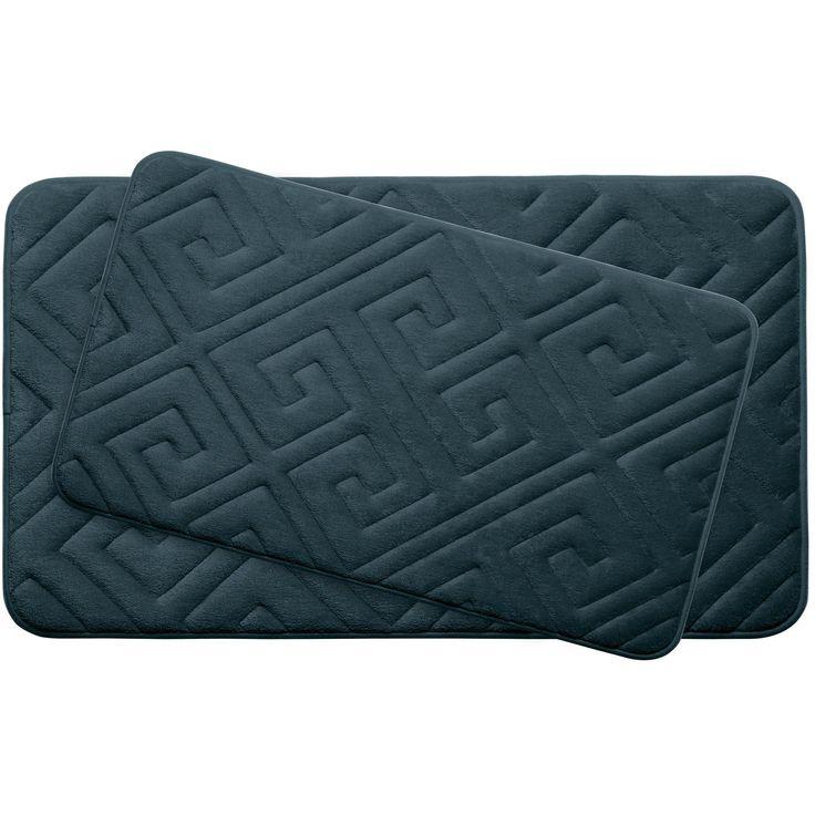 Caicos Large 2 Piece Premium Micro Plush Memory Foam Bath