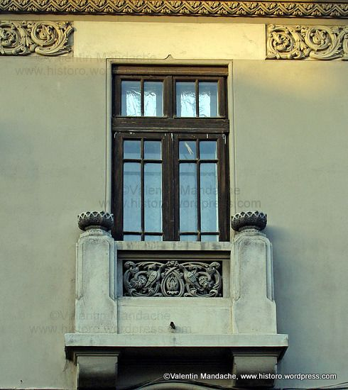 Neo-Romanian style balcony, Bucharest