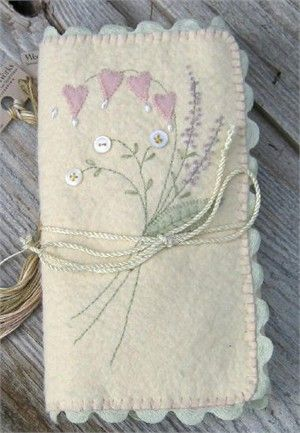 needle case...so delicate, embroidered cover
