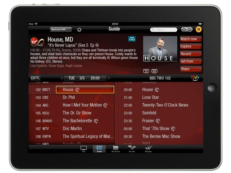 First Picture: Virgin Media's TiVo iPad app   Virgin Media has sent us a sneak peek at its upcoming TiVo iPad app. Buying advice from the leading technology site
