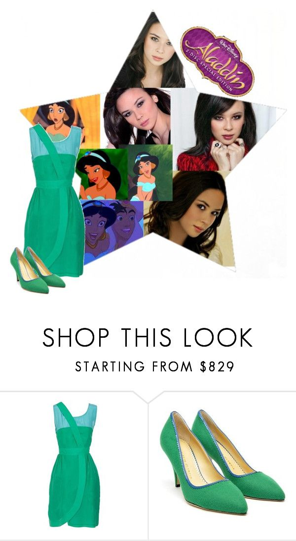 """6. Malese Jow as Jasmine"" by lexie-ann ❤ liked on Polyvore featuring Disney, Fendi and Charlotte Olympia"