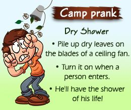 Funny Camp Prank Ideas