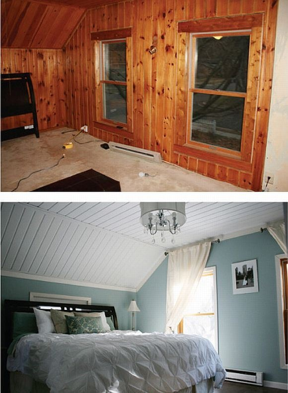 A Quick Solution For Wood Paneling Add Paint Dream House Pinterest Home And Makeover