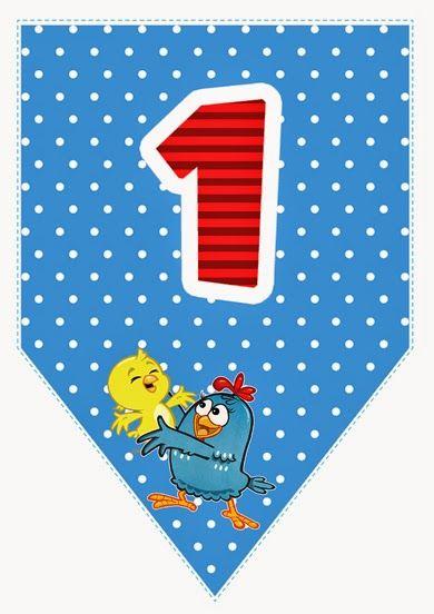 Alfabeto da galinha pintadinha para imprimir bandeirinhas