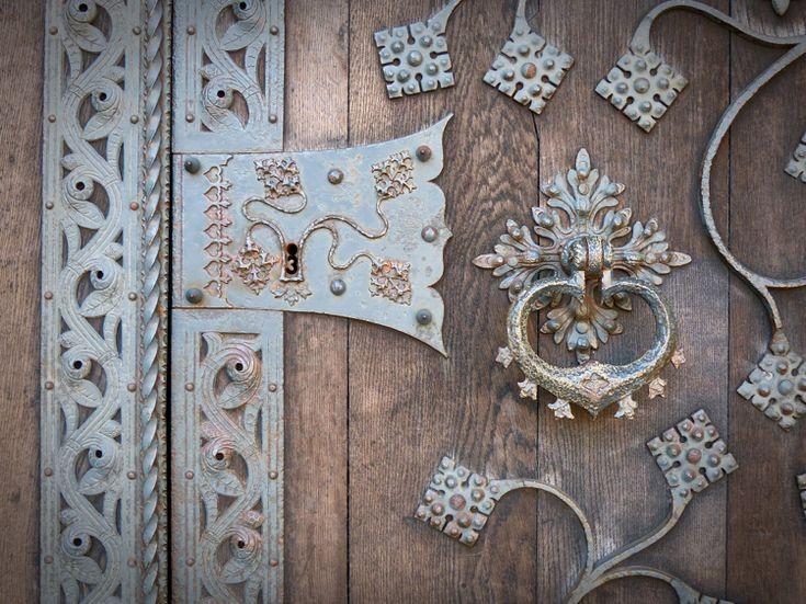 Türbeschläge Antik Schmiedeeisen filigran #door #style #old
