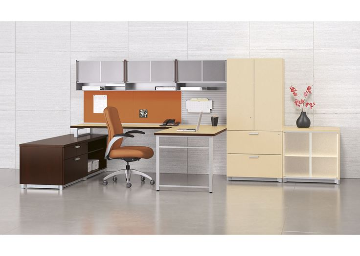 National Office Furniture Epic Casegoods, Exhibit Wall Rail Solution And  Aurora Seating