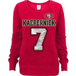NFL Juniors San Francisco 49ers Kaepernick Scoop Neck Sweatshirt