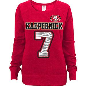 NFL Juniors San Francisco 49ers Kaepernick Scoop Neck Sweatshirt