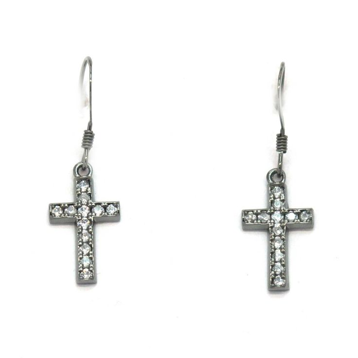 Cross silver earrings made following traditional methods. Made in Spain. Tax-free