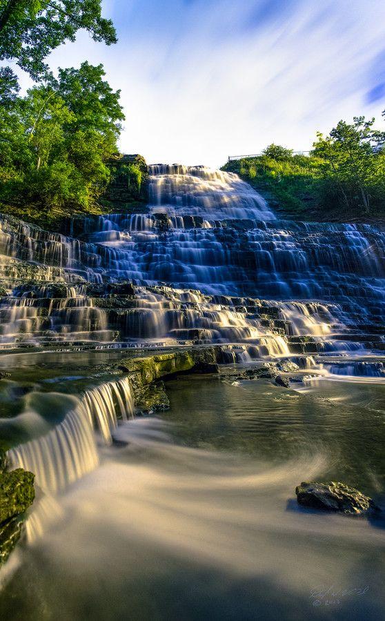 ☀Albion Falls at Night by Darryl Van Gaal on 500px ~ Albion Falls, Hamilton, Ontario, Canada*