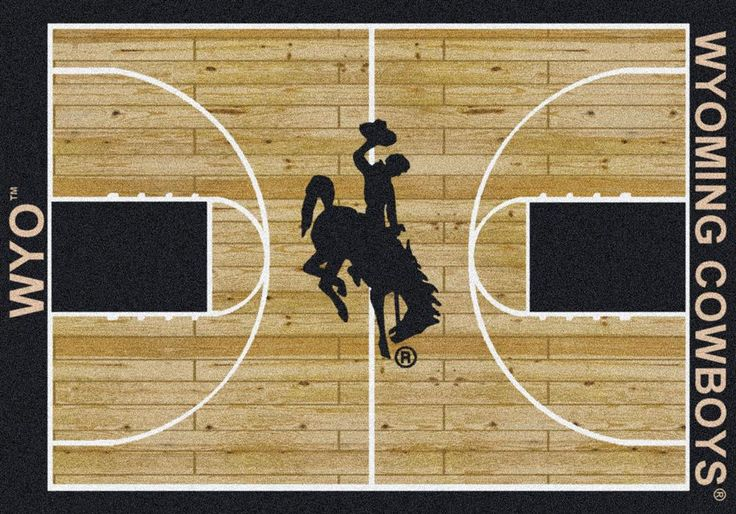 University of Wyoming Cowboys Basketball Court Rug