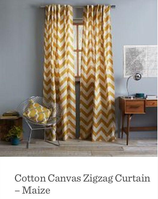 West Elm curtains living room/bedroom
