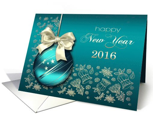 Happy New Year 2021. Christmas Ornament Design card ...