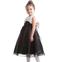 Lovely Black And White Girl's #Dress