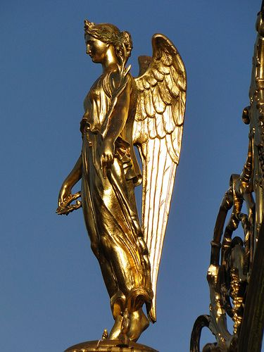 the winged goddess of victory  nike  nike was the ancient