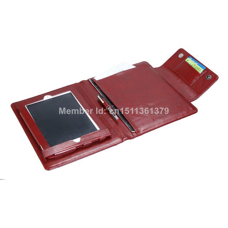 Fold Genuine Leather Portfolio Case for Apple iPad Wine Red Color $89.99