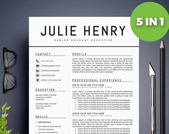 Modern Resume Template / CV Template + Cover Letter | Professional And  Creative Resume | Teacher Resume | Word Resume | Instant Download  Teacher Resume Template