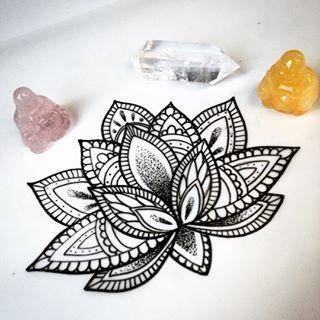 mandala lotus tattoo - Google Search...