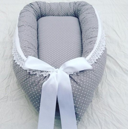 Baby sleep nest with wool filling with organic cotton fabric - made to order - babybed - babynest with wool filling - shipping worldwide by…