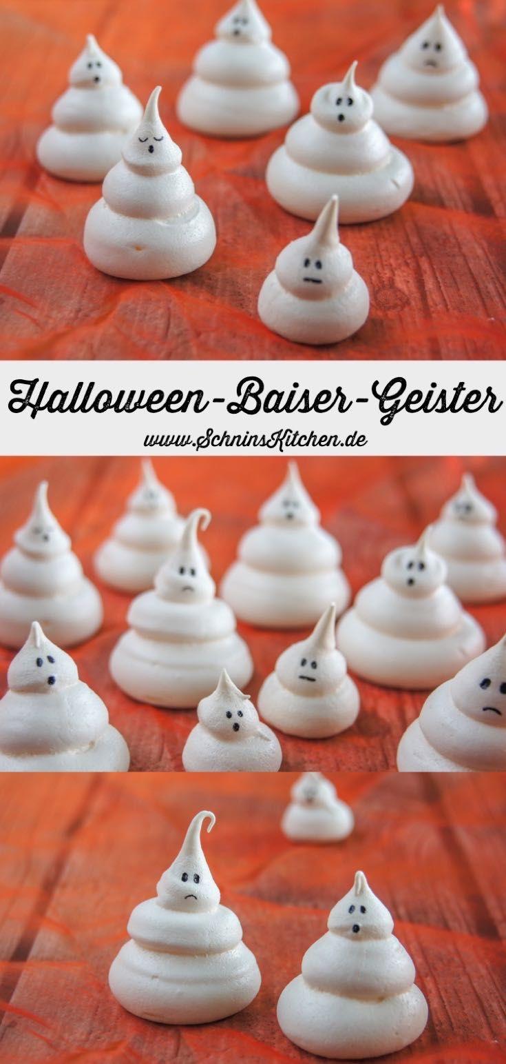 Halloween-Baiser-Geister – Süßes oder Saures – Schnin's Kitchen – meine Rezepte & DIYs