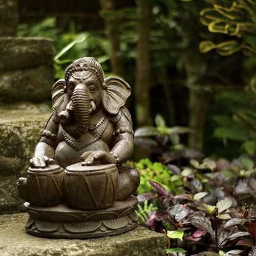 Drumming Ganesh Statue  http://www.bighappybuddha.com/drgaan.html